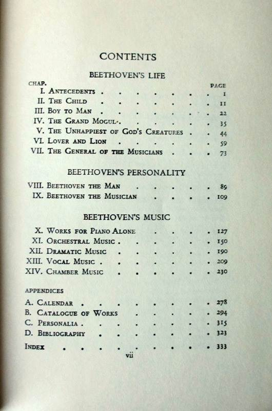 The Master Musicians Series Beethoven by Marion M. Scott, 1968. Details.