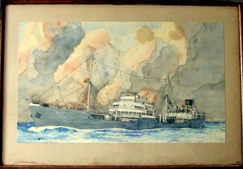 mv British Knight, watercolour, signed W. Hogdson. c1955.