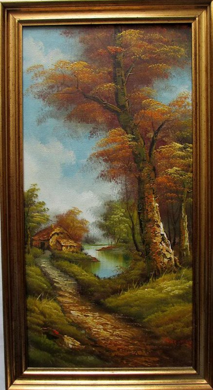 Country Retreat, oil on canvas, signed I. Cafieri. c1975.