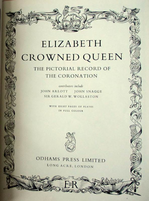 Elizabeth Crowned Queen 1953 1st Edition. Detail.