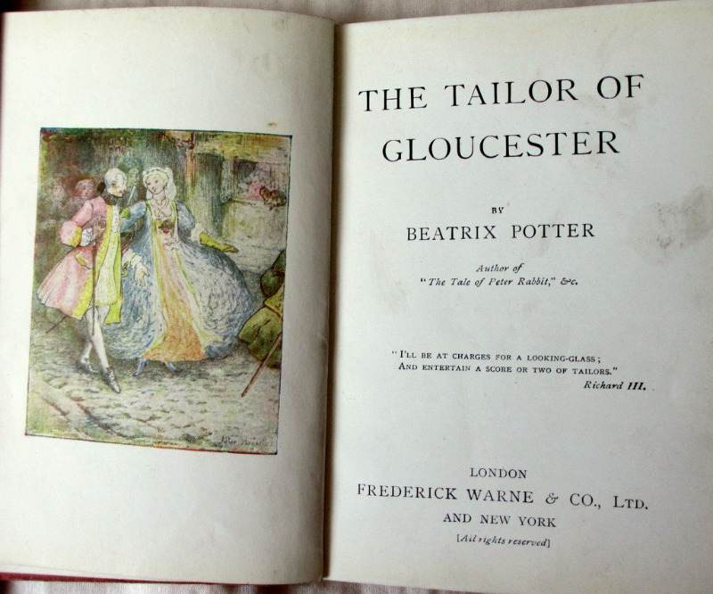 Beatrix Potter 5 volumes. 3 vols with DJ's.