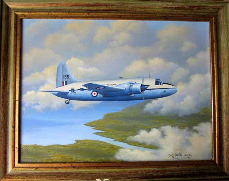 Vickers Valetta, military twin engine transport, oil on canvas, John Pettitt 2004.