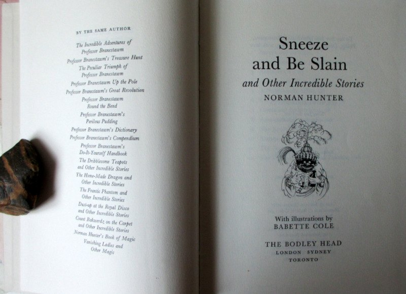 Sneeze and Be Slain by Norman Hunter 1980 1st Edition.
