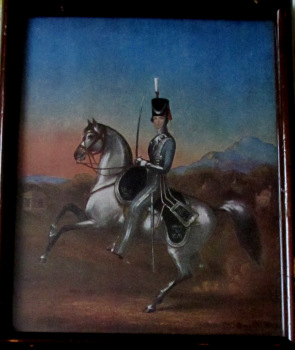 An Officer of the Sixth Bengal Light Cavalry, 1856, Offset-Lithograph. Original Frame c1930.