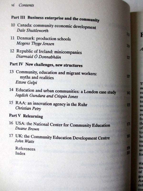 Community Education in the Western World Edited by Cyril Poster and Angelika Krueger, 1990. Details.