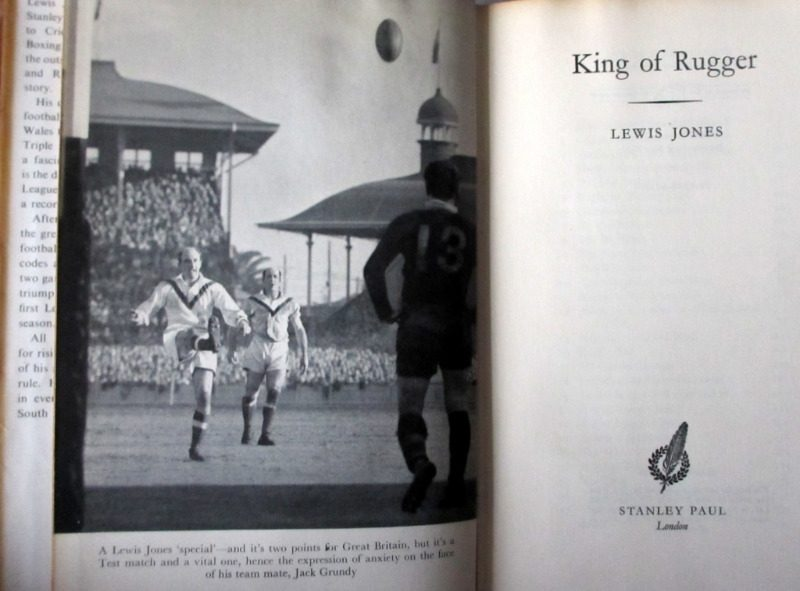 King of Rugger Lewis Jones 1958 1st Edition