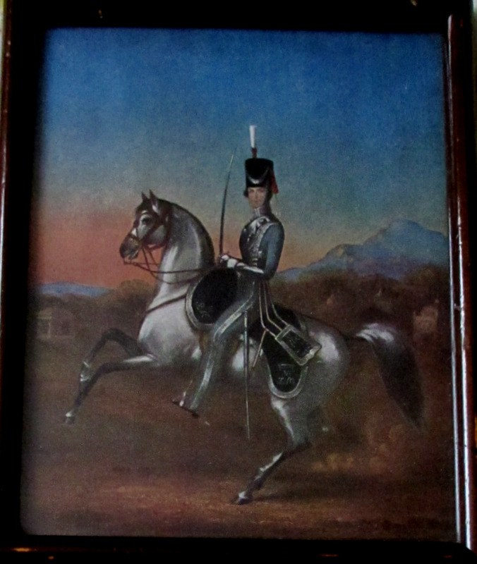 An Officer of the 6th Bengal Light Cavalry, 1856, Litho, Framed original, c1930.