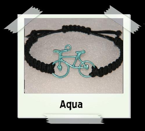 Enamelled Woven Bracelet - Aqua