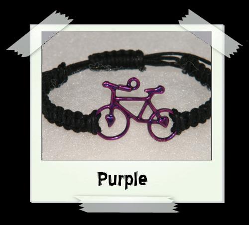Enamelled Woven Bracelet - Purple