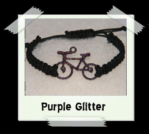 Enamelled Woven Bracelet - Purple Glitter