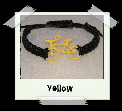 Enamelled Woven Bracelet - Yellow