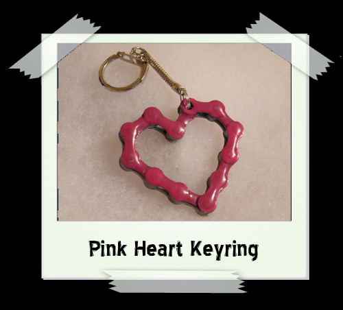 Key Ring - Pink Heart