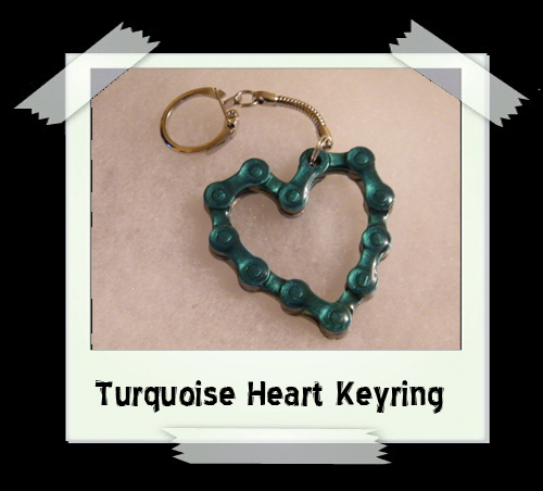 Key Ring - Turquoise Heart