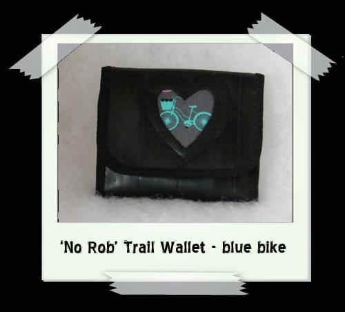 'No Rob' Trail Wallet - blue bike