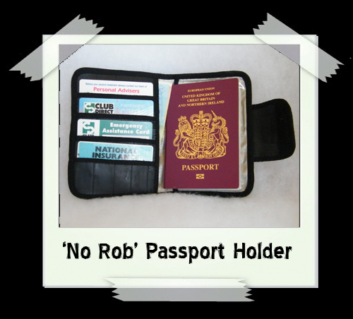 'No Rob' Passport Holder