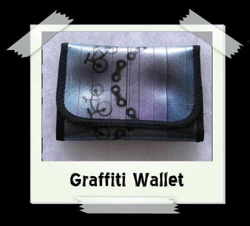 Graffiti Wallet - Blue/Purple