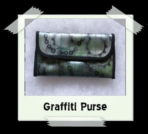 Graffiti Purse - Green