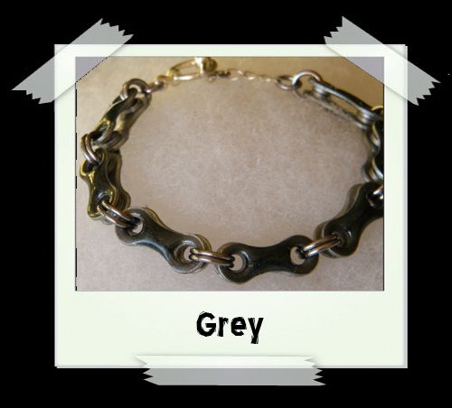 Bicycle Chain Bracelet - Grey