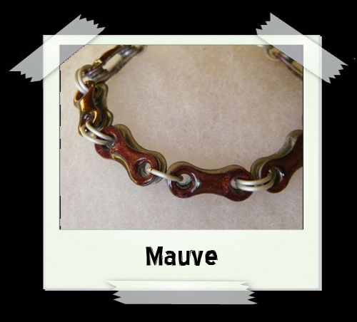 Bicycle Chain Bracelet - Mauve