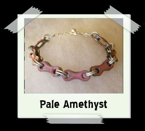Bicycle Chain Bracelet - Pale Amethyst