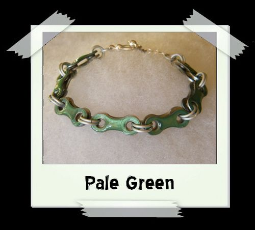 Bicycle Chain Bracelet - Pale Green
