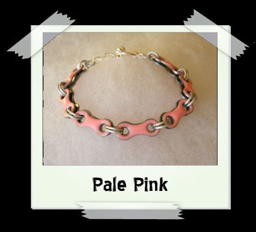 Bicycle Chain Bracelet - Pale Pink