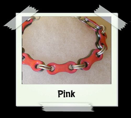 Bicycle Chain Bracelet - Pink