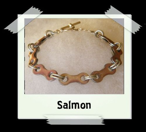 Bicycle Chain Bracelet - Salmon