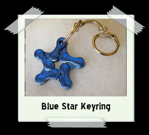 Key Ring - Blue Star
