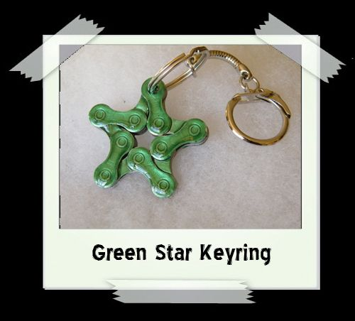 Key Ring - Green Star