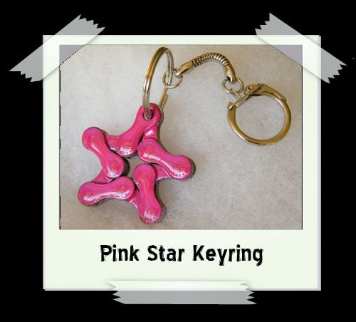 Key Ring - Pink Star