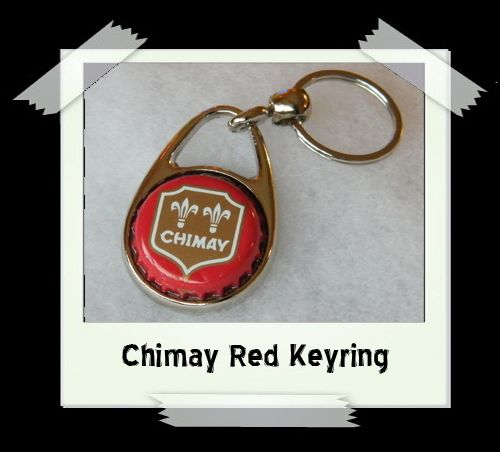 Bottle Cap Key Ring - Chimay Red