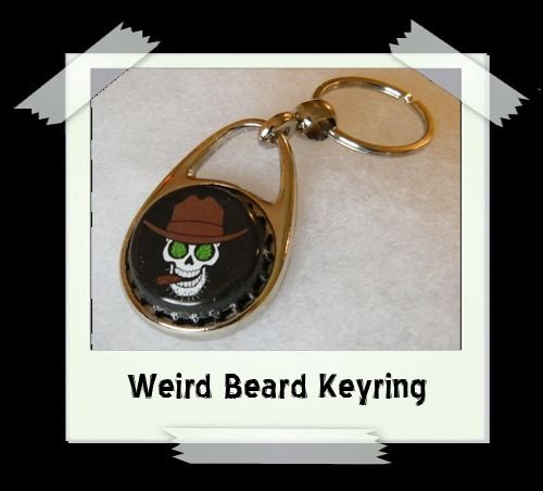 Bottle Cap Key Ring - Weird Beard