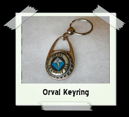 Bottle Cap Key Ring - Orval