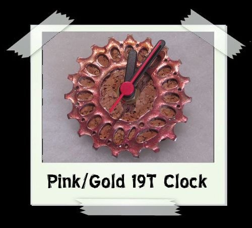 Pink/Gold 19T Clock
