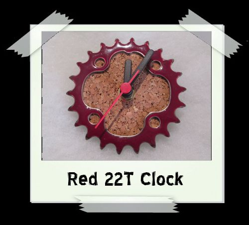 Red Gear 22T Clock