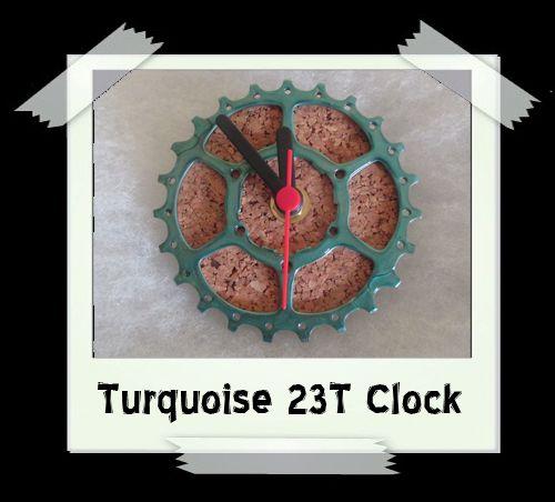 Turquoise 23T Clock