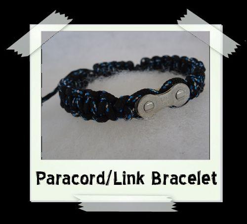 Paracord/Link Bracelet  Black/Blue