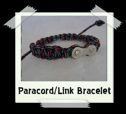 Paracord/Link Bracelet  Black/Multi