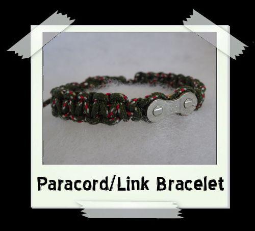 Paracord/Link Bracelet  Kahki