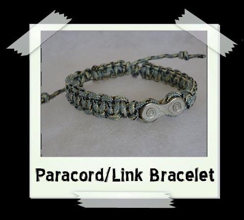 Paracord/Link Bracelet  Grey