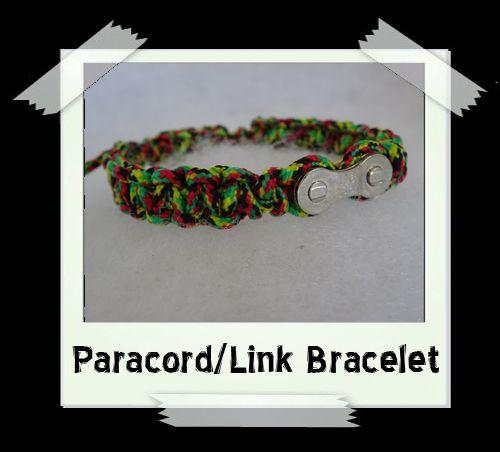 Paracord/Link Bracelet  Jamaica