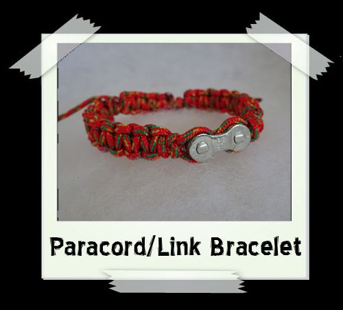 Paracord/Link Bracelet  Orange