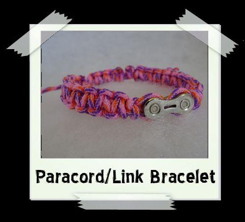 Paracord/Link Bracelet  Pink