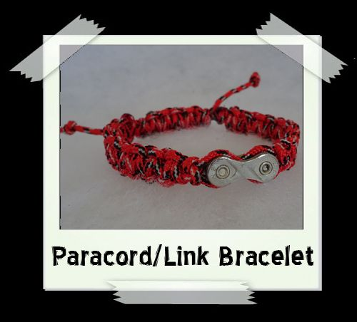 Paracord/Link Bracelet  Red