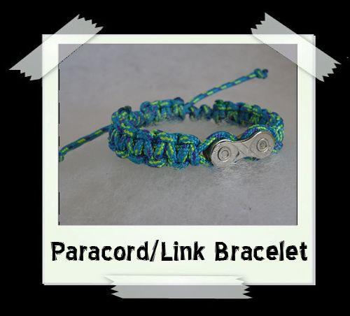Paracord/Link Bracelet  Turquiose