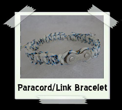Paracord/Link Bracelet  White