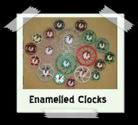 Enamelled Gear/Rotor Clocks