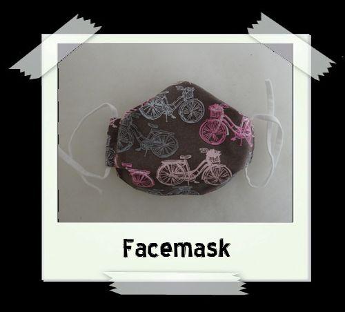 Bicycle Print Facemask