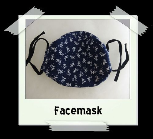 Blue Bike Facemask